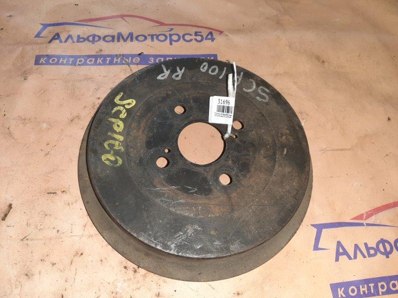 Тормозной барабан Toyota Ractis SCP100 2SZ-FE 2009 задний правый