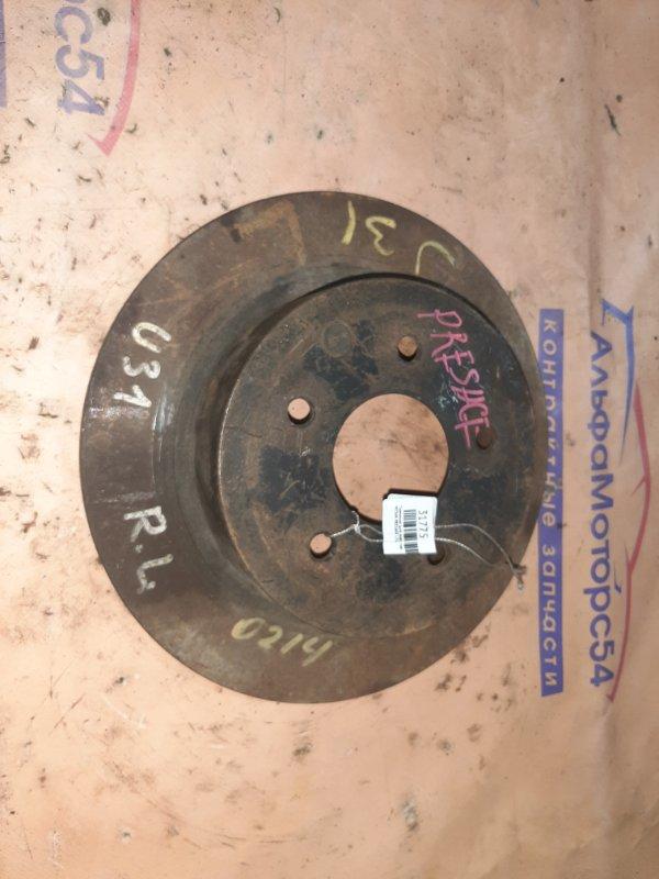 Тормозной диск Nissan Presage U31 задний левый