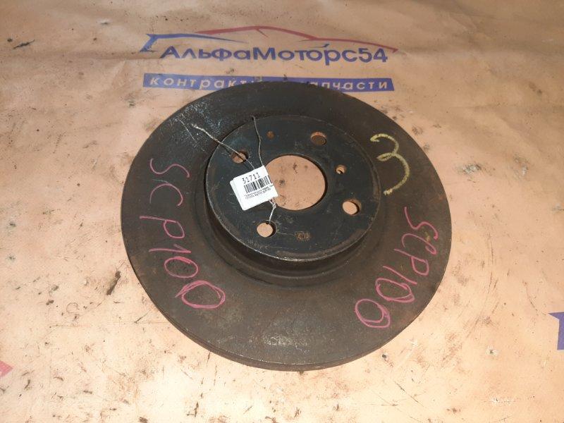 Тормозной диск Toyota Ractis SCP100 передний правый