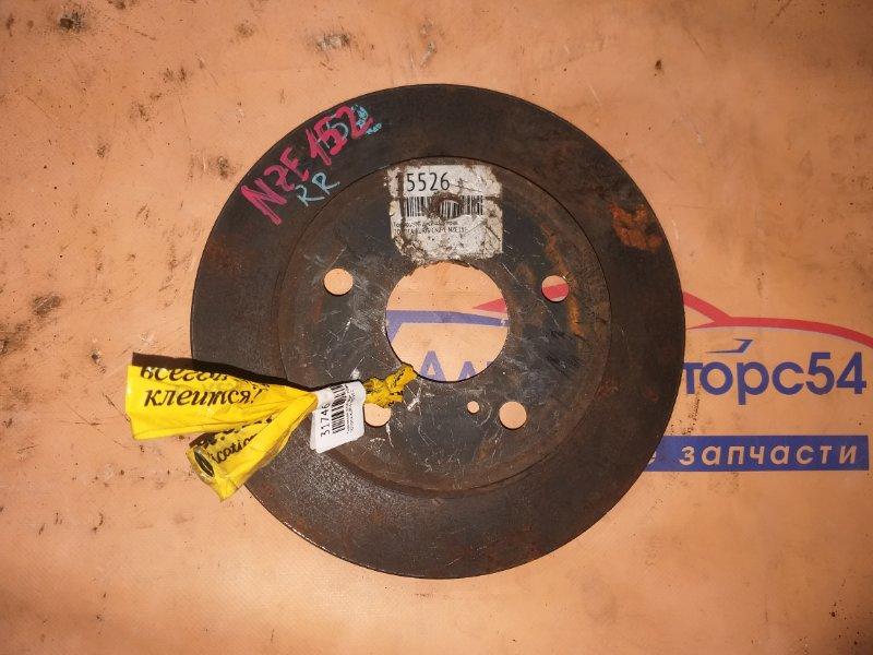 Тормозной диск Toyota Auris NZE152 задний правый