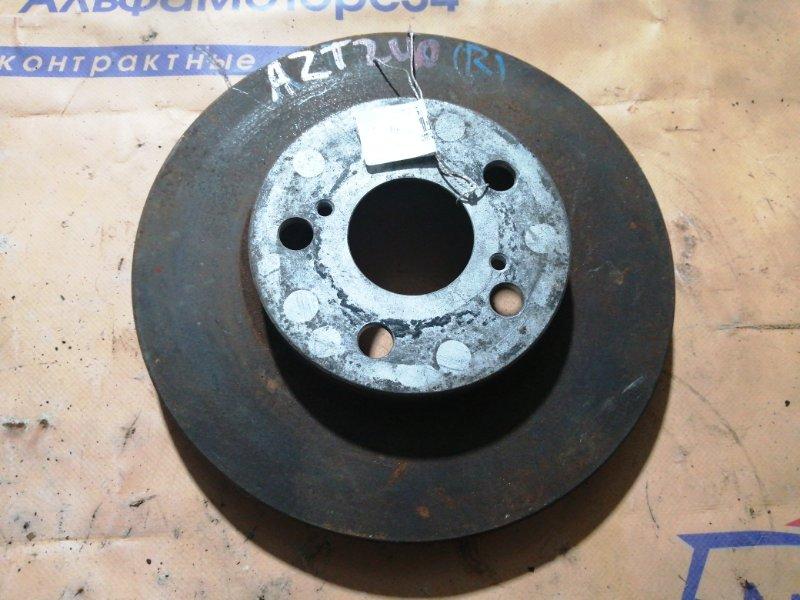 Тормозной диск Toyota Premio ZZT240 1ZZ-FE передний правый