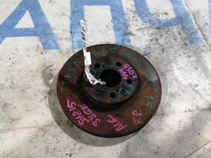 Тормозной диск Toyota Caldina ST215 передний правый