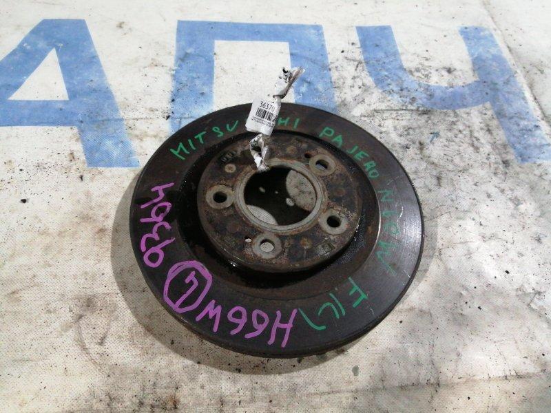 Тормозной диск Mitsubishi Pajero H66W 4G93 передний левый