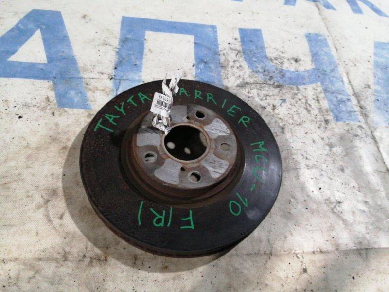 Тормозной диск Toyota Harrier MCU10 передний правый