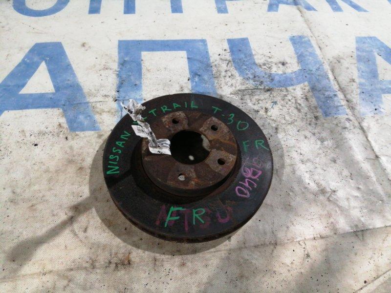 Тормозной диск Nissan X-Trail NT31 MR20DE передний правый