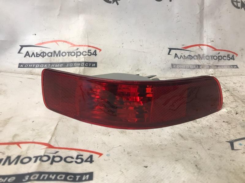 Катафот в бампер Mitsubishi Outlander CW5W 4B12 2008 задний левый