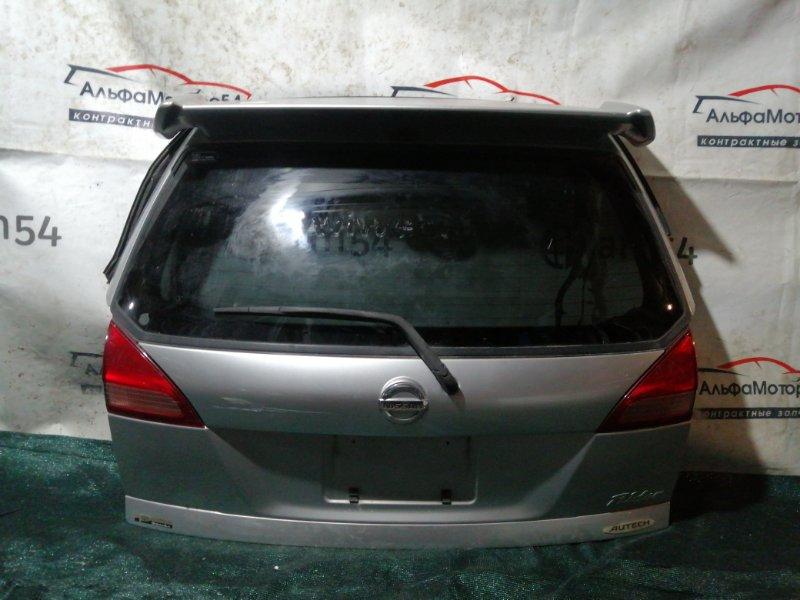 Дверь 5-я Nissan Wingroad Y11 QG15DE 2000 задняя