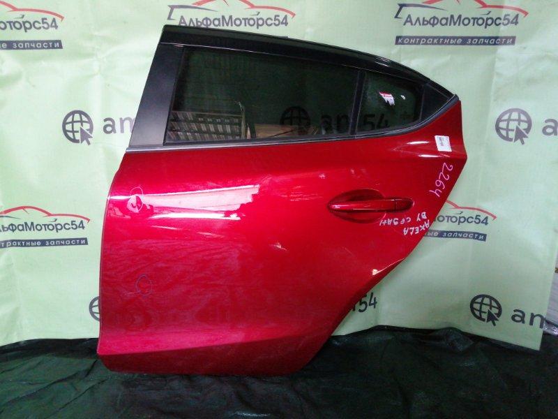 Дверь Mazda Axela BYEFP PE-VPH 2013 задняя левая