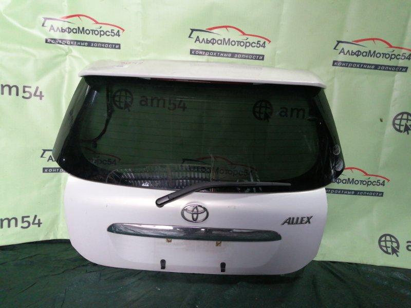 Дверь 5-я Toyota Corolla Runx NZE121 1NZ-FE 2004 задняя