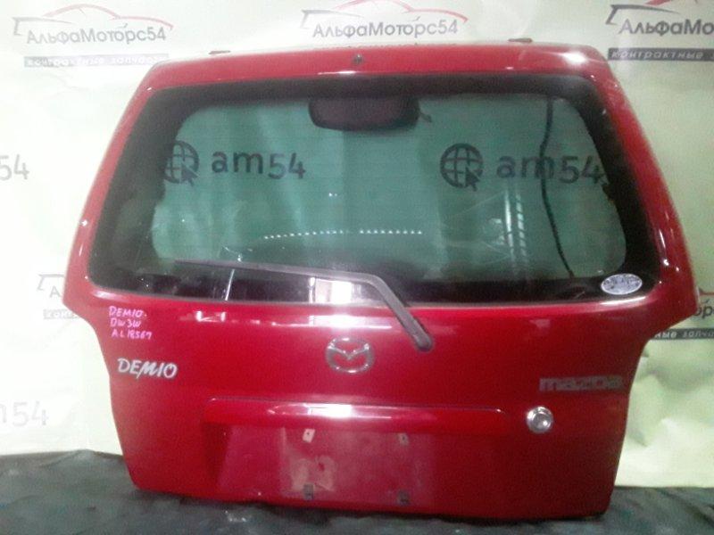 Дверь 5-я Mazda Demio DW5W B5 2000 задняя