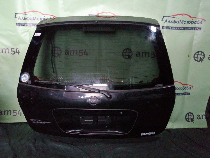 Дверь 5-я Nissan Tino V10 QG18DE 2001 задняя