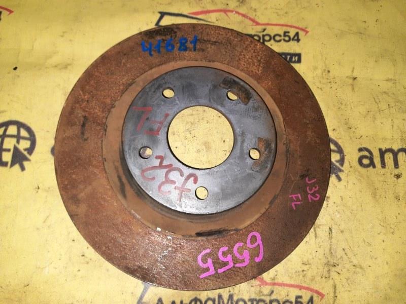 Тормозной диск Nissan Teana J32 VQ25DE 2008 передний левый
