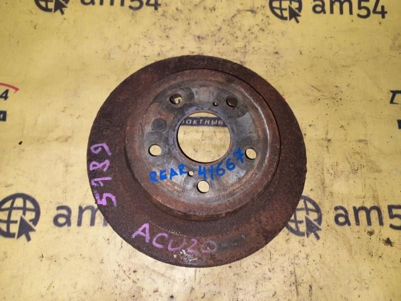 Тормозной диск Toyota Kluger ACU20 2AZ-FE 2001 задний левый