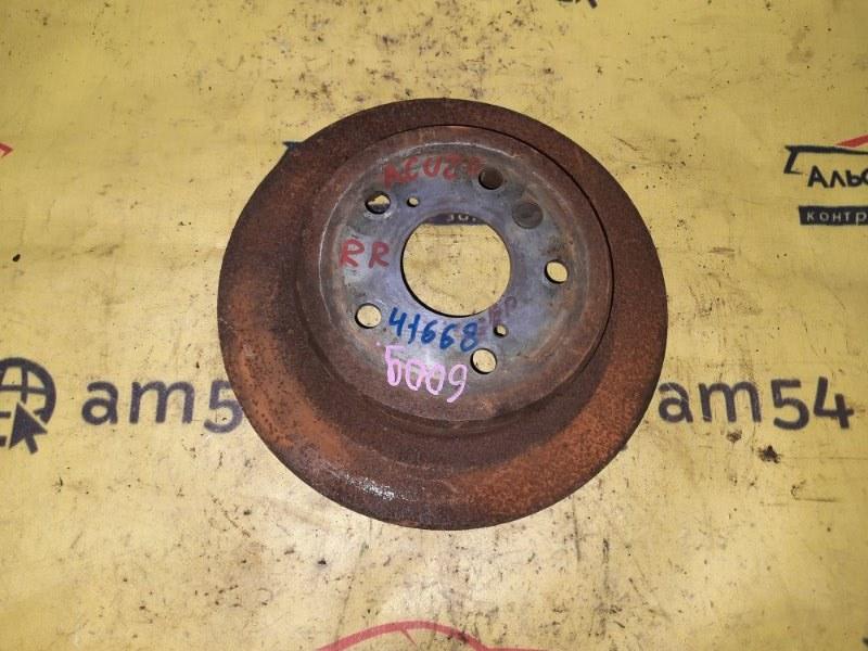 Тормозной диск Toyota Kluger ACU20 2AZ-FE 2001 задний правый