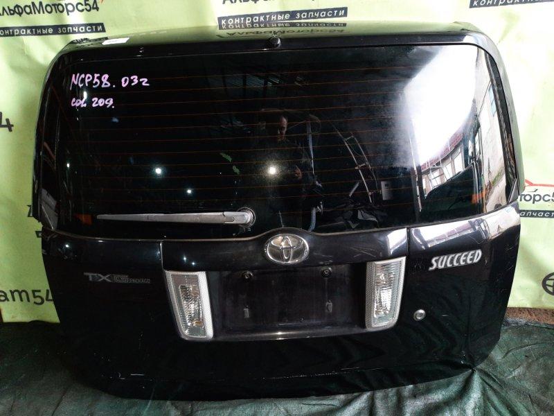 Дверь 5-я Toyota Succeed NCP58 1NZ-FE 2003 задняя