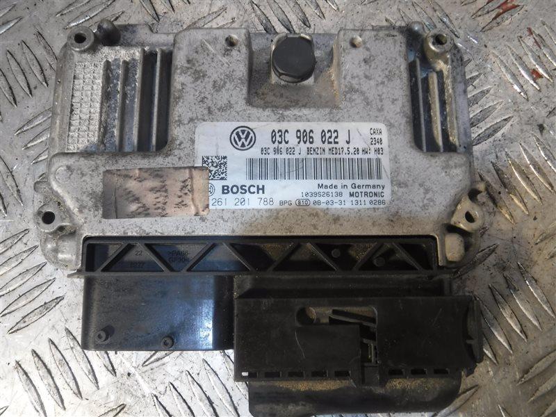 Блок управления двигателем эбу Vw Golf 5 1K1 CAX 2008