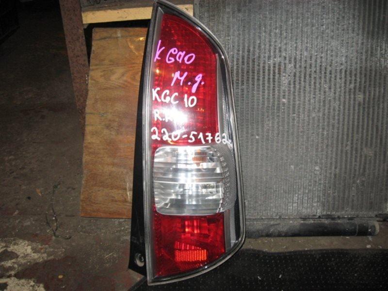 Стоп-сигнал Toyota Passo KGC10 2005 задний правый