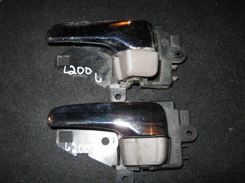 Ручка двери внутренняя Mitsubishi L200 KB4T 4D56 2006 задняя левая