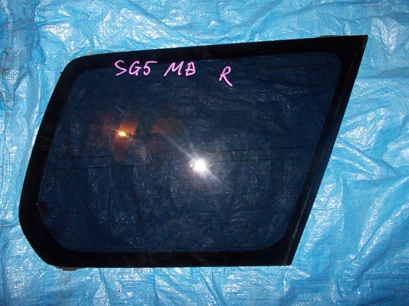 Стекло собачника Subaru Forester SG5 EJ20-T 2005 заднее правое
