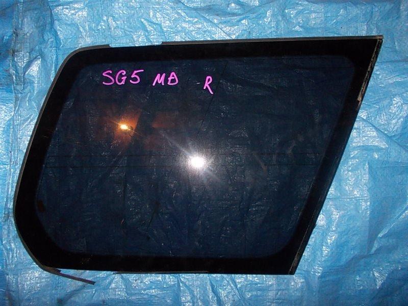 Стекло собачника Subaru Forester SG5 EJ20-T 2006 заднее правое