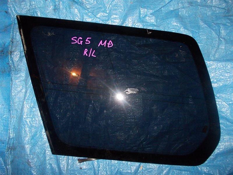 Стекло собачника Subaru Forester SG5 EJ20-T 2006 заднее левое