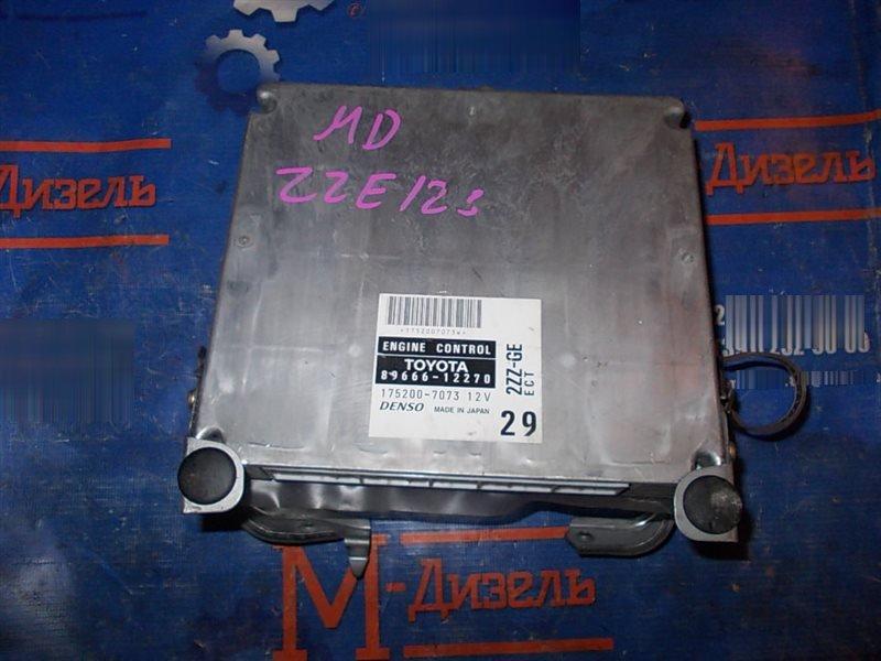 Блок управления двс Toyota Allex ZZE123 2ZZ-GE