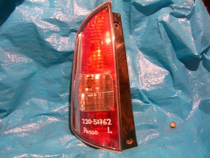 Стоп-сигнал Toyota Passo QNC10 2005 задний левый