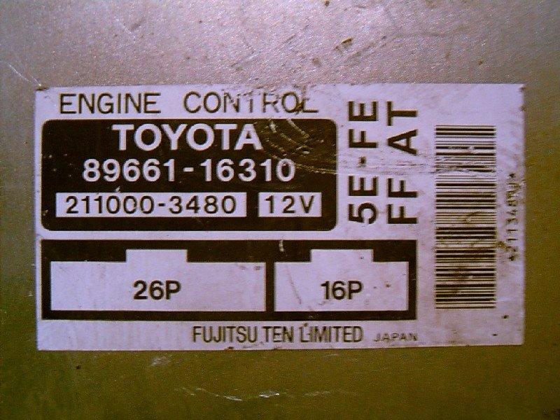 Блок управления двс Toyota Corsa EL53 5E-FE