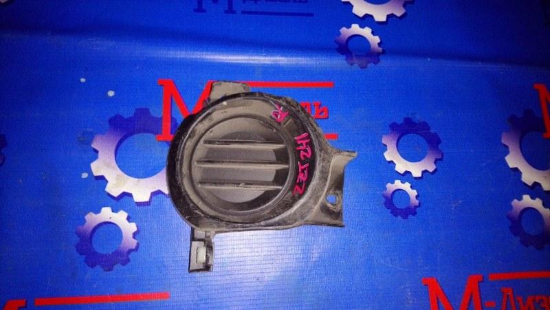 Заглушка бампера Toyota Caldina AZT241W 2005 передняя правая