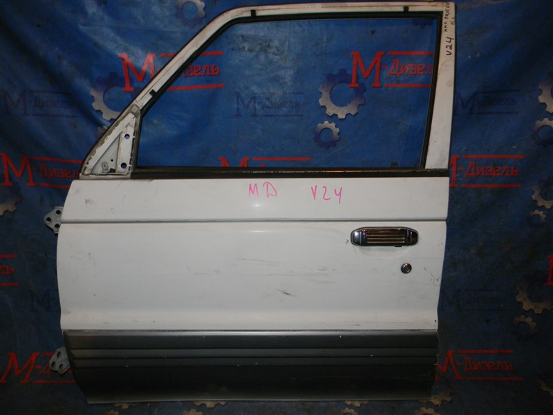Дверь боковая Mitsubishi Pajero V44W 4D56-T 1994 передняя левая