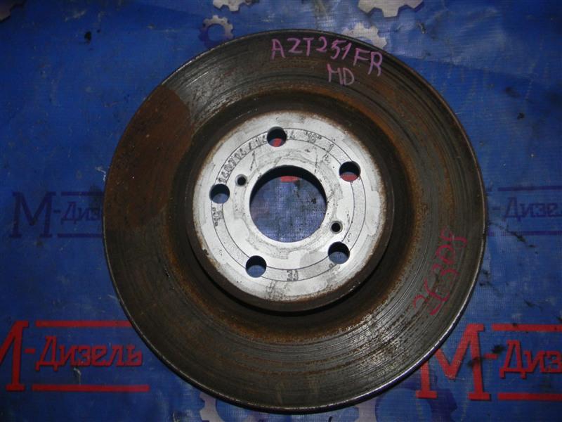 Диск тормозной Toyota Avensis AZT251 2AZ-FSE 2007 передний правый