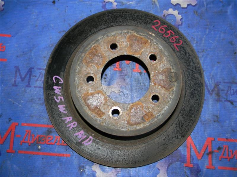 Диск тормозной Mitsubishi Outlander Xl CW5W 4B12 2005 задний правый