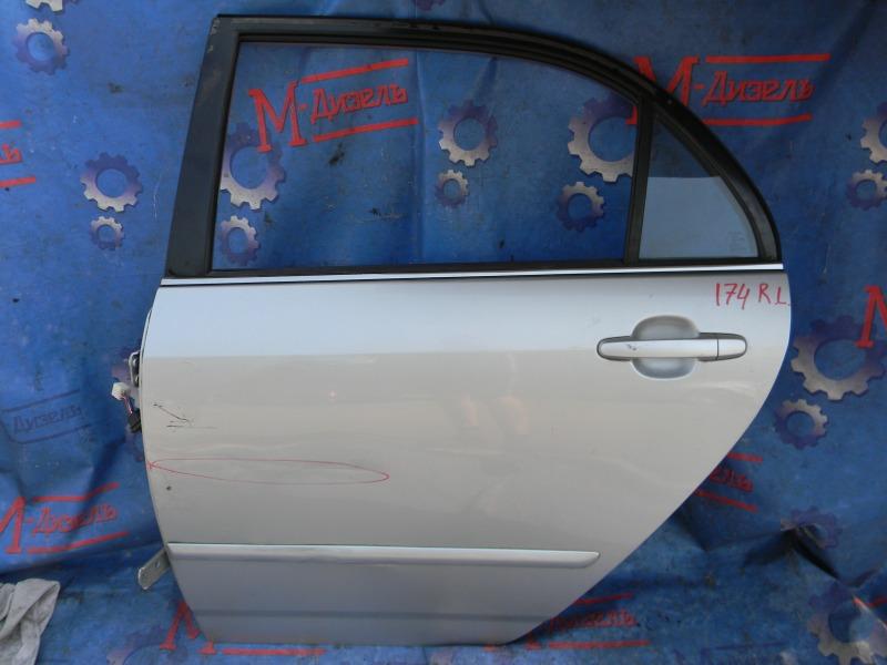 Дверь боковая Toyota Corolla NZE124 1NZ-FE 2000 задняя левая