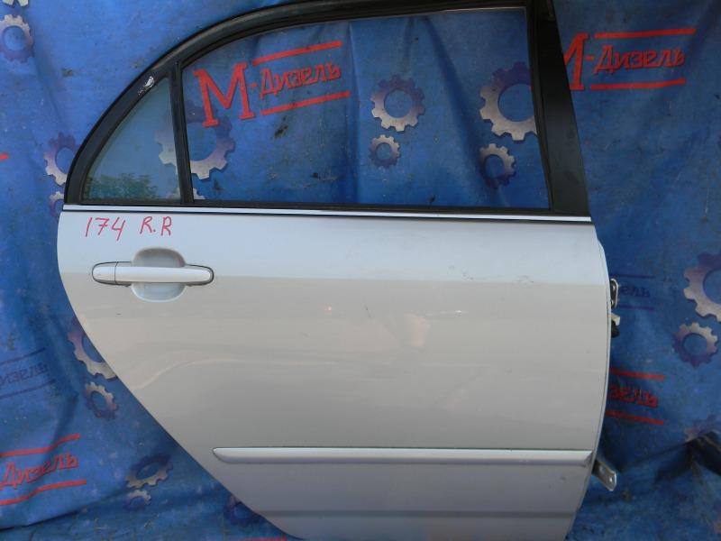 Дверь боковая Toyota Corolla NZE124 1NZ-FE 2000 задняя правая