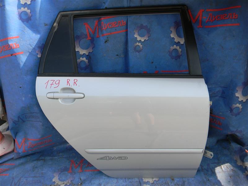 Дверь боковая Toyota Corolla Fielder NZE124 1NZ-FE 2005 задняя правая