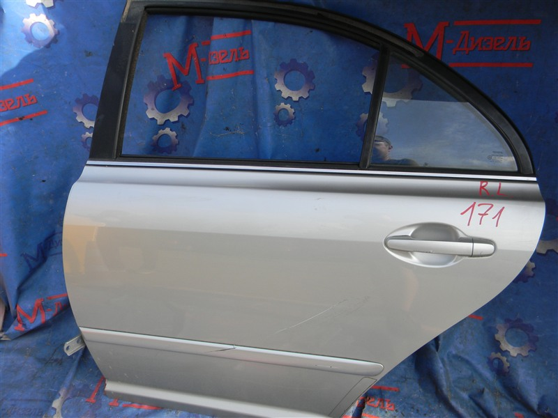 Дверь боковая Toyota Avensis AZT250 1AZ-FSE 2007 задняя левая