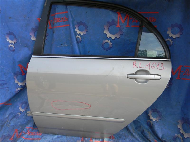 Дверь боковая Toyota Corolla NZE121 1NZ-FE 2001 задняя левая