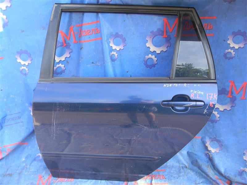 Дверь боковая Toyota Corolla Fielder NZE121 1NZ-FE 2000 задняя левая