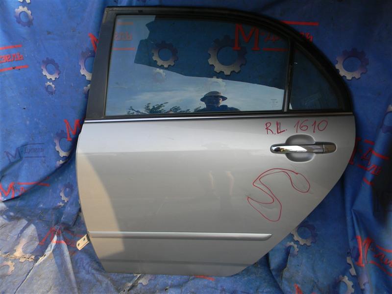 Дверь боковая Toyota Corolla NZE121 1NZ-FE 2002 задняя левая