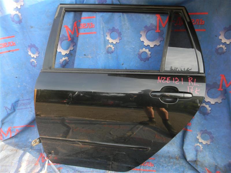 Дверь боковая Toyota Corolla Fielder NZE121 1NZ-FE 2002 задняя левая