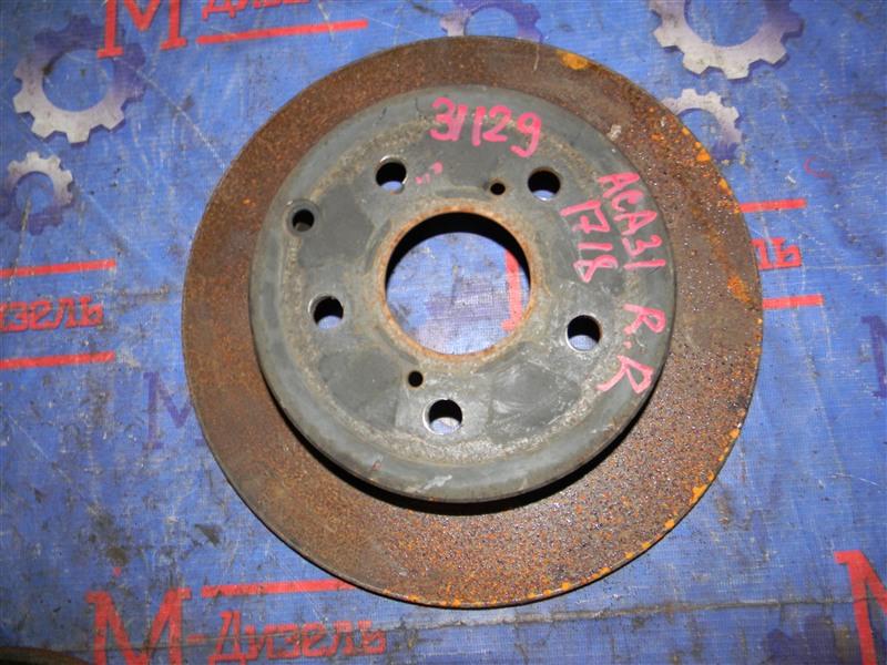 Диск тормозной Toyota Rav4 ACA31 2AZ-FE 2006 задний правый