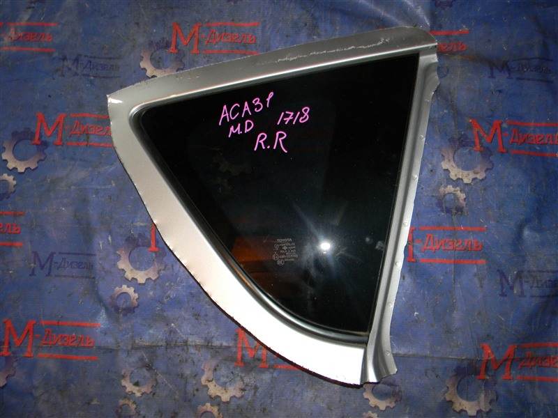 Стекло собачника Toyota Rav4 ACA31 2AZ-FE 2006 заднее правое