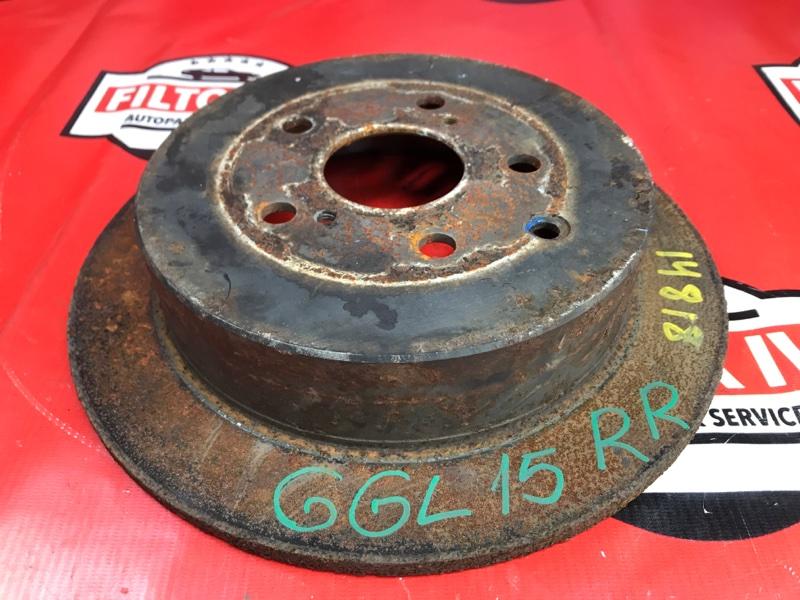 Диск тормозной Lexus Rx350 GGL15 2GRFXE задний правый
