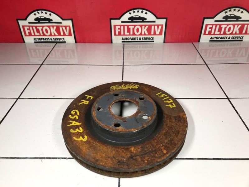 Диск тормозной Toyota Rav4 ACA33 2AZFE передний правый