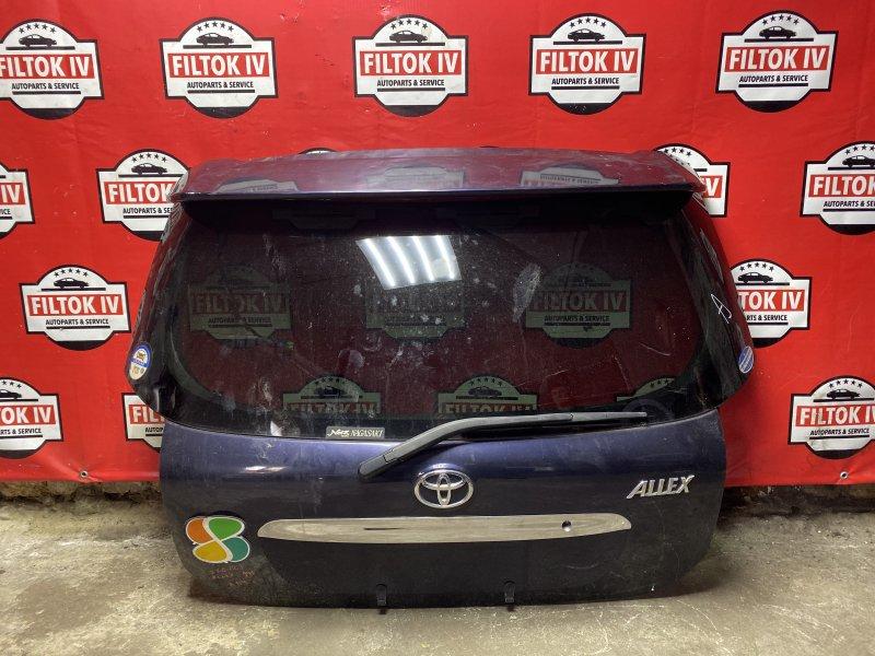 Дверь багажника Toyota Allex ZZE123 1ZZFE