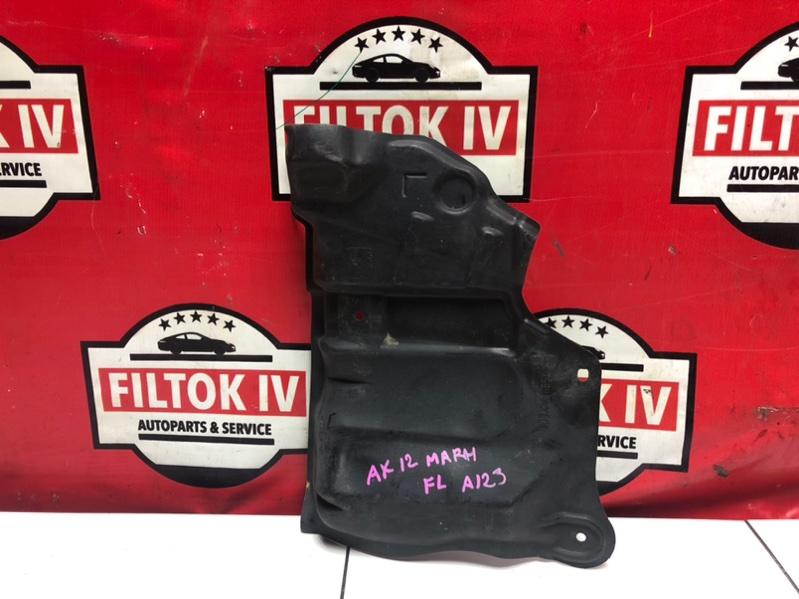 Защита двигателя Nissan March AK12 CR12DE 2005 передняя левая