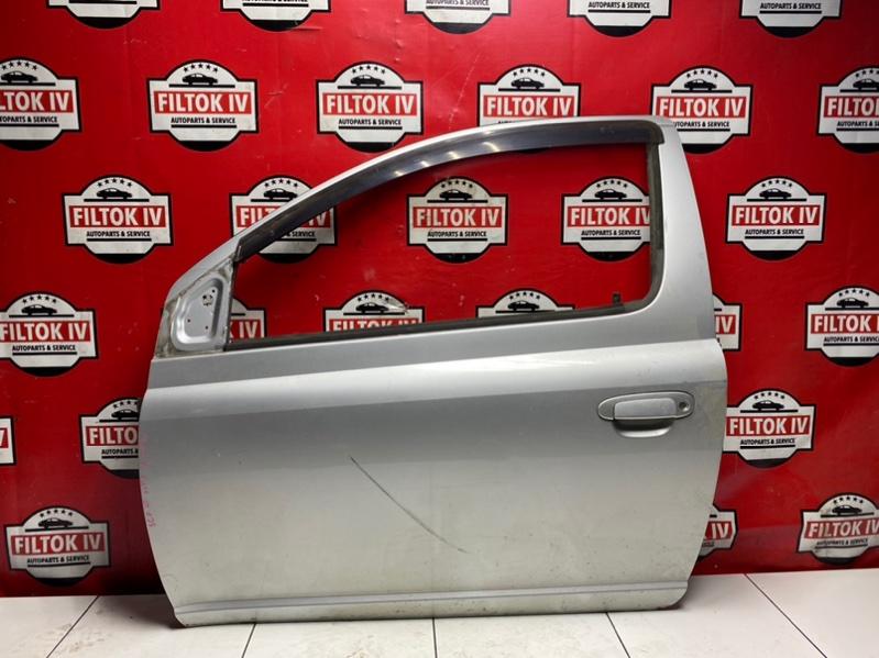 Дверь боковая Toyota Vitz SCP10 1SZFE 2000 передняя левая