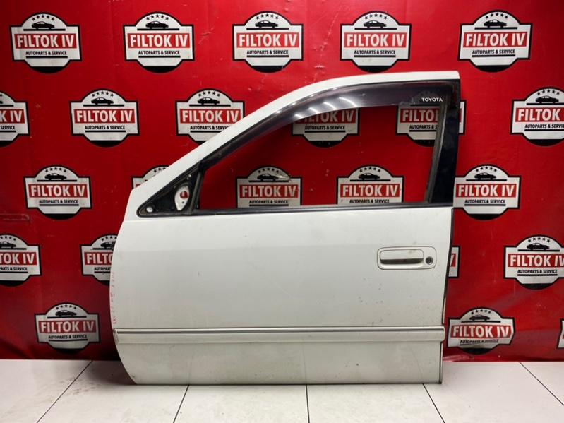Дверь боковая Toyota Mark Ii Wagon Qualis SXV20W 5SFE 2000 передняя левая