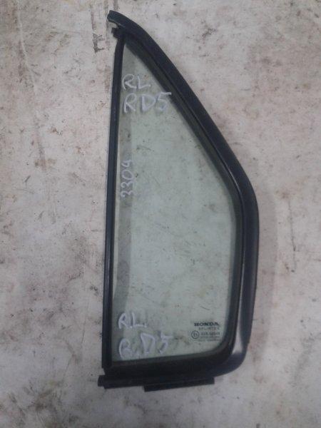 Форточка двери Honda Cr-V RD8 K20 2003 задняя левая