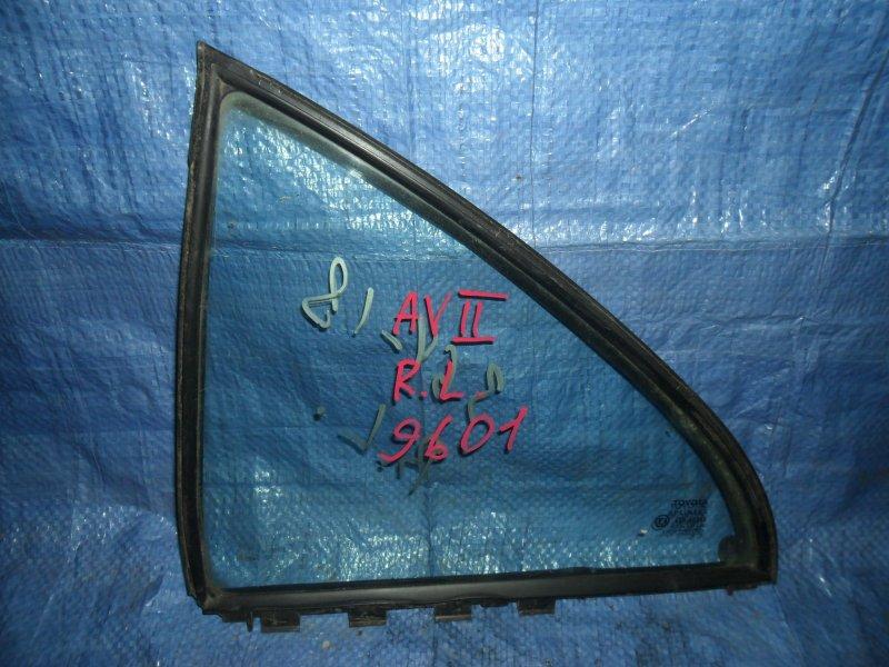 Форточка двери Toyota Avensis ZZT251 1ZZ-FE 2003 задняя левая